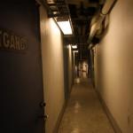 Korridor i teknikutrymmena.