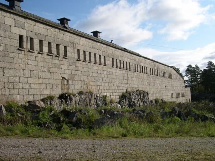 Sydöstra muren Rindö redutt (c) Anders Lövegard